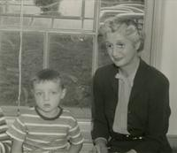 1945 Katherine Casanova With Student