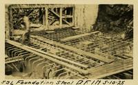 Lower Baker River dam construction 1925-05-10 Foundation Steel D.F. 1N