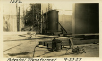 Lower Baker River dam construction 1925-09-23 Potential Transformer