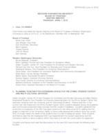 WWU Board of Trustees Minutes: 2016-04-07