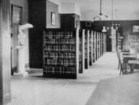 1927 Library: Reading Room from Charging Desk