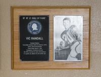 Hall of Fame Plaque: Vic Randall, Football (Safety), Class of 1982