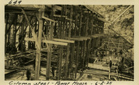Lower Baker River dam construction 1925-06-02 Column Steel Power House