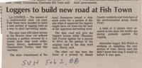 Loggers to build new road at Fish Town
