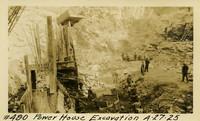 Lower Baker River dam construction 1925-04-27 Power House Excavation