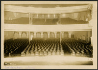 View from stage of interior of Beck's Opera House