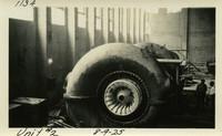 Lower Baker River dam construction 1925-08-09 Unit #2