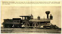 Copy of Newsprint image of Northern Pacific steam engine and coal car