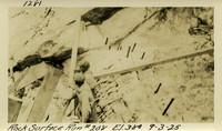 Lower Baker River dam construction 1925-09-03 Rock Surface Run #208 El.380