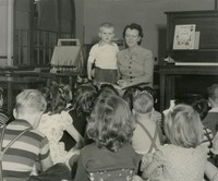 1948 Synva Nicol With Kindergartners