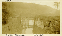 Lower Baker River dam construction 1925-11-01 Lake Shannon (with railroad trestle)