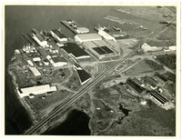 Aerial view taken from the southeast of Pacific American Fisheries complex in Fairhaven, Washington
