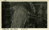 Lower Baker River dam construction 1925-08-08 Trestle on Dam