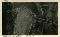 Lower Baker River dam construction 1925-08-08 Trestle on Dam