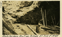 Lower Baker River dam construction 1925-08-14 Rock Surface Run #188 W. Side El.360