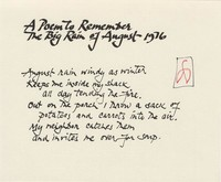 A Poem to Remember the Big Rain of August 1976