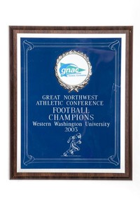 Football Plaque: GNAC Football Champions, 2003