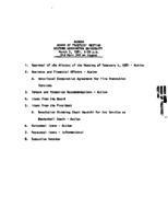WWU Board minutes 1981 March