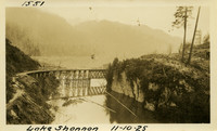 Lower Baker River dam construction 1925-11-10 Lake Shannon (with railroad trestle)