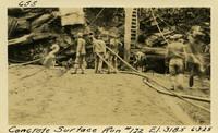 Lower Baker River dam construction 1925-06-03 Concrete Surface Run #122 El.318.5