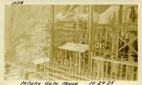 Lower Baker River dam construction 1925-10-29 Intake Gate House