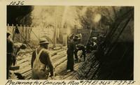 Lower Baker River dam construction 1925-07-27 Preparing for Concrete Run #174 El.3618
