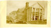 Exterior of Larrabee family house under construction, Bellingham, Washington