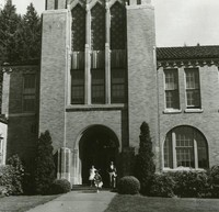 1960 Campus School Building Main Entrance (School's Out! )
