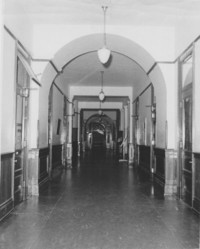 1954 Old Main: Interior Hallway