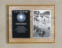 Hall of Fame Plaque: Norm Bright, Track and Field (Mile), Class of 1976