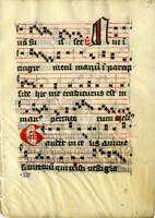 Unidentified manuscript leaf [item 52310]