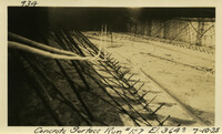 Lower Baker River dam construction 1925-07-10 Concrete Surface Run #157 El.3640