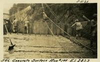 Lower Baker River dam construction 1925-05-11 Concrete Surface Run #100 El.287.3