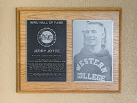 Hall of Fame Plaque: Jerry Joyce, Football, Track and Field, Wrestling, Class of 2010