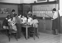 1936 Students Studying The Story of Money