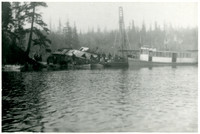 "The steamer ""Marguerite"" wrecked at Langtree Point, Lake Whatcom"