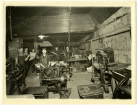 Interior of Bellingham Publishing Company print shop