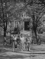1951 Main Building: Students Walking