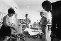 1965 Classroom Scene, Working with Rocks
