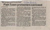 Fish Town protesters concede