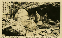 Lower Baker River dam construction 1925-03-24 Plums Placed for Run #52