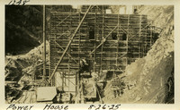 Lower Baker River dam construction 1925-08-26 Power House