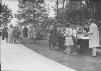 1927 Campus Day: Eating at Picnic Table