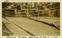 Lower Baker River dam construction 1925-06-07 Concrete Surface Run #126 El.332.3