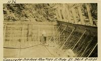 Lower Baker River dam construction 1925-08-15 Concrete Surface Run #189 E. Side El.341.5