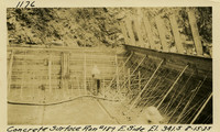 Lower Baker River dam construction 1925-08-15 Concrete Surface Run #189 E. Side El.341.5