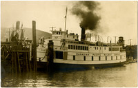 """Canadian Pacific Railway Company diesel ferry """"Motor Princess"""" docked at ferry terminal"""