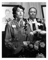1982  Kathy Hemion and President G. Robert Ross