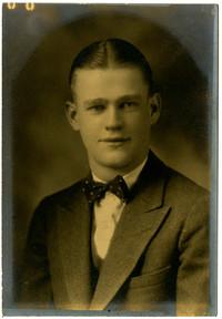 Studio portrait of young man