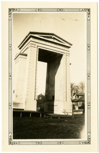 The newly-constructed Peace Arch at the U.S./Canadian border, Blaine, Washington